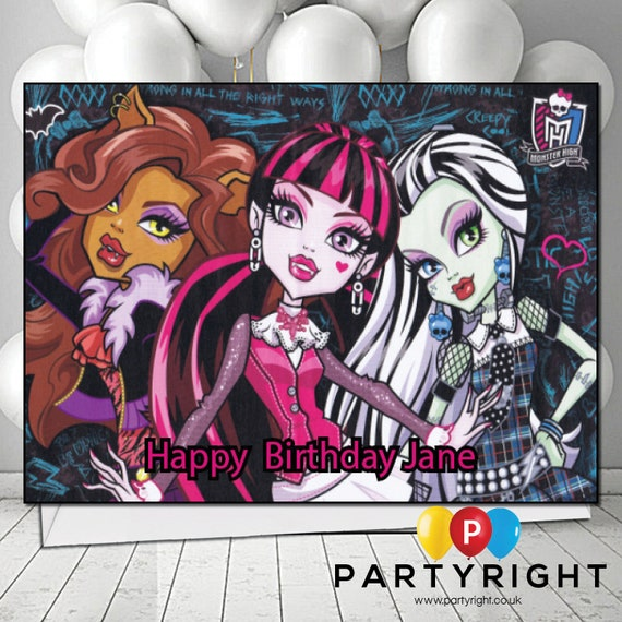 Personalised Monster High Birthday Card