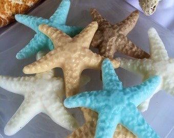 Starfish Soap - Set of 5 -  Seastar soap - Seashell Soap - Beach Soap - Ocean Soap - Beach Wedding
