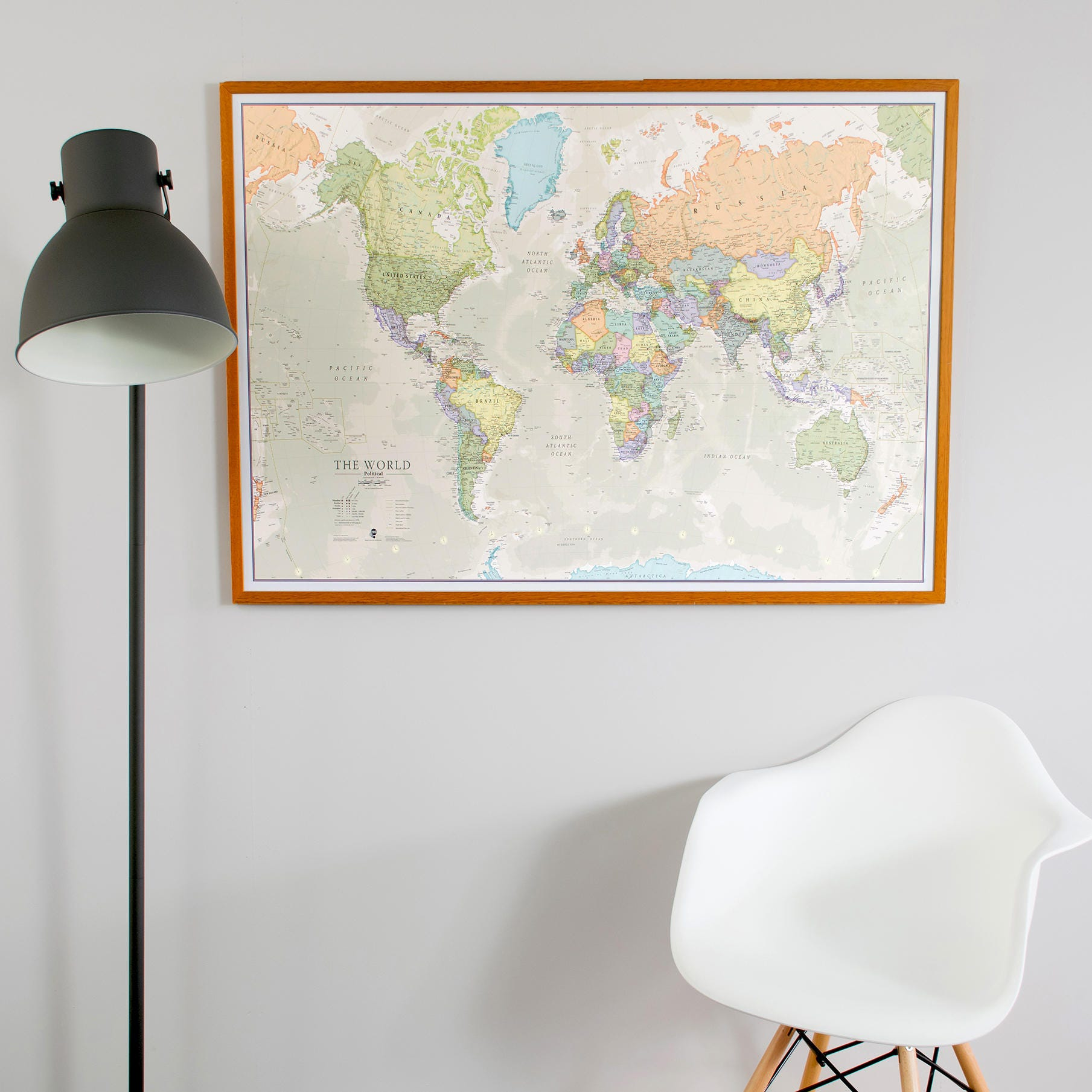 Classic World Map home decor living room bedroom wall