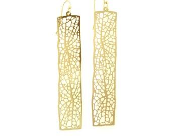 Birdhouse Jewelry - skeleton leaf earrings