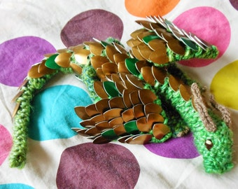 Knit Your Own Baby Scale Mail Dragon