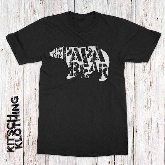 Papa bear t shirt - bamboo - papa bear - daddy and me outfits - papa shirt gift - papa bear t-shirt - papa bear tee - daddy bear shirt dbfuEHQaK3