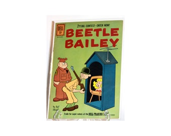 Old Comic Books Beetle Bailey Comic by Mort Walker Dell Comics 1961