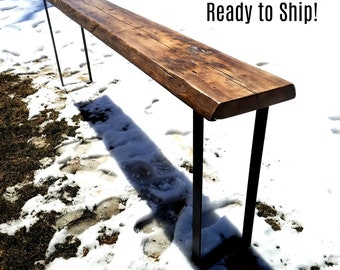 Sofa Table, Entry Hall Table, Reclaimed Wood Table, Console Table, Modern Leg Table, Farmhouse Table, Natural Edge Table, Industrial Table