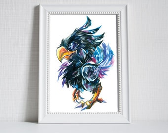 Print ~ Black Chocobo