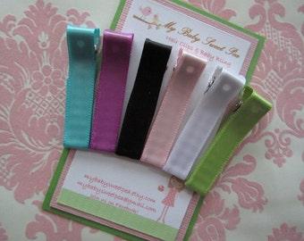 girl hair clips - satin hair clips - girl barrettes - no slip hair clips