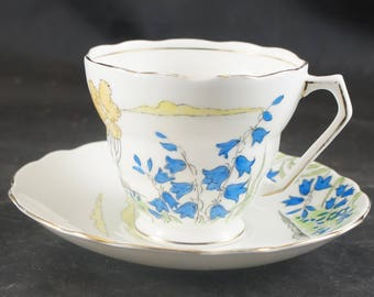 Radford Fine Bone China Cup and Saucer HAREBELL