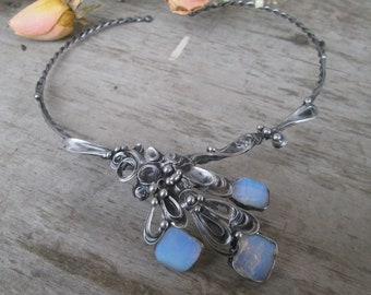 necklace with opalite blue