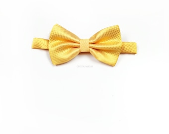 golden yellow bow tie, canary, yellow bowtie, mens bowtie, men bowtie, boys bowtie, bow tie, bowtie - one size fits most (2.5 x 4.5 inch)