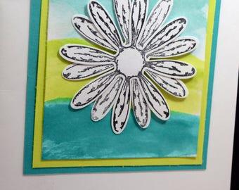 Daisy Thank You card(TH-002), Cutout Daisy, Dimensional card