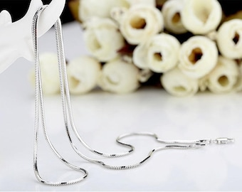 For your pendants 925 Silver snake chain