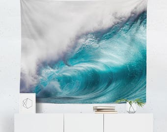 Wave Tapestry | Ocean Tapestry | Wave Wall Hanging | Ocean Wall Decor | Surf Tapestry | Surf Wall Decor | Ocean Wall Art