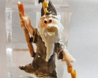 It's a Wizard Brooch. Magician Pin. Cold Enamel. Handpainted. waalaa