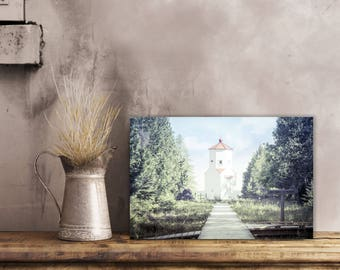 Baileys Harbor Range Lights, Lighthouse Decor, Door County Photography, Nautical Decor, Color, Large Wall Art Print, Wisconsin