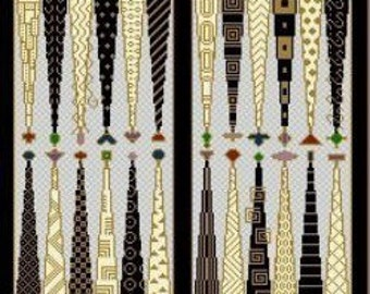 Needlepoint or Cross Stitch Pattern Design Chart - Backgammon Game Board