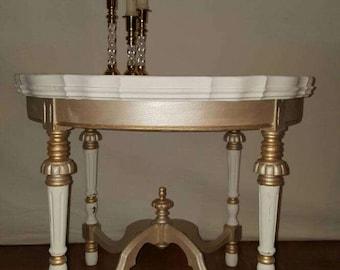 Elegant Round Table custom painted.