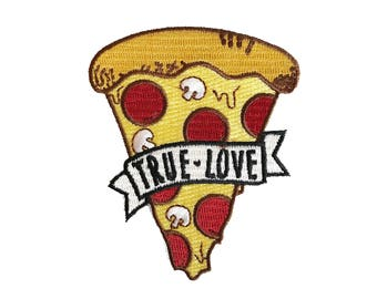 Pizza - True Love Patch - Iron-On