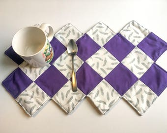 Table runner, small table runner, table decor, quolted home decor, placemat, quolted table runner, large mug rug