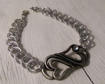 Half Persian 3 in 1 Bracelet with Dual Hearts