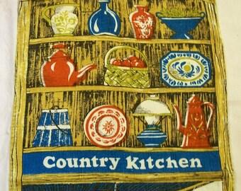 Vintage Towel, Country Kitchen, Oldtime Kitchen, The Ryams, Fallani & Cohn, cotton Towel, vintage kitchen, supplies