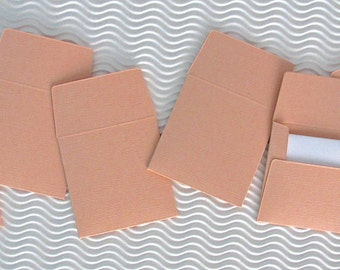 36+ teeny tiny envelope note card sets handmade peach glow orange mini miniature square party favors weddings stationery guest book
