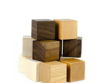 Waldorf Wooden Blocks - Waldorf Toys - Educational Toy - Plain Baby Blocks - Baby Gift