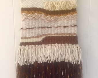 Earth Tone Weaving with Shells