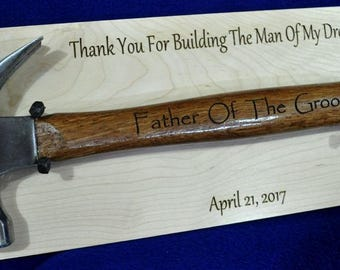 Father Of The Groom Gift ~ Parents Of The Groom Gift ~ Stepfather Of The Groom ~ Gift For Parent Of The Groom ~ Custom Engraved Hammer ~