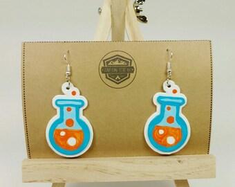 Chemistry Beaker Earrings | Science Earrings | Science Geek | Science Nerd | Science Teacher | Teacher Gift | Teacher Jewelry | Geeky