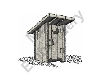 Outhouse - Machine Embroidery Design