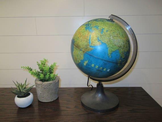 Superb Vintage World Globe Lamp Rico Underwriters Laboratories