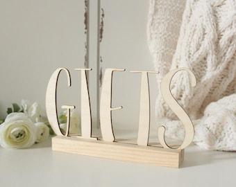 Gifts Sign Wedding Wood Gifts Sign Wedding Sign