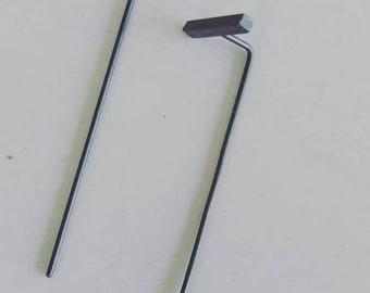 Sterling silver oxidized TBar earings