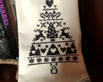Nordic Tree Kitchen Towel