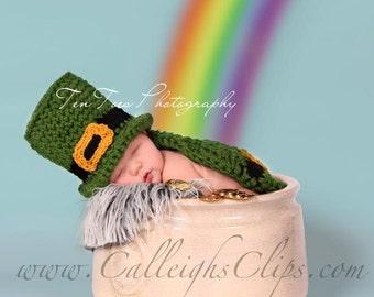 Luckiest Leprechaun Cuddle Cape Set Newborn Photography Prop