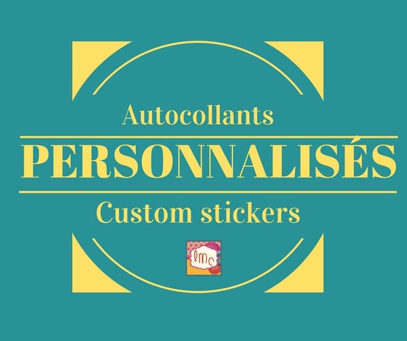 Custom stickers logo stickers etsy boutique stickers