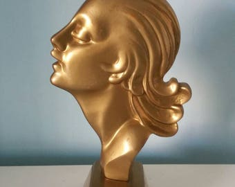 Stunning brass art deco head !