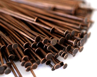 150pcs 35mm Antique Copper Headpins FINDING