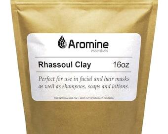 Aromine Rhassoul Clay Powder, 16oz Resealable Bag