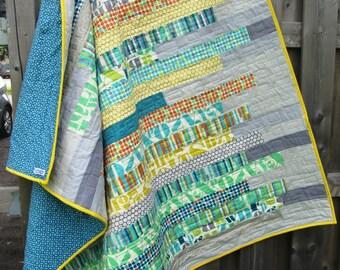 Modern quilt - custom quilt - queen quilt - crib quilt - lap quilt - twin quilt - king quilt - homemade quilt - patchwork quilt