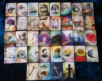 "MINI The ""PICTORIAL LENORMAND"" by AlyZen Moonshadow fortune telling cartomancy divination cards"
