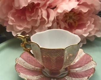 Vintage petit tea cup and saucer