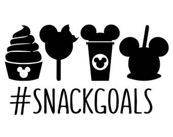 Snack goals svg, disney snacks svg, disney svg, hashtag svg, mickey mouse svg, disney ice cream svg, disney coffee svg, snacks svg, svg file