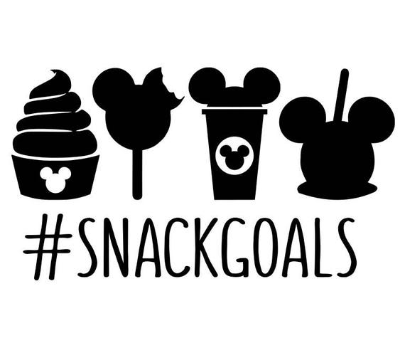 Snack goals svg, disney snacks svg, disney svg, hashtag svg, mickey mouse svg, disney ice cream ...
