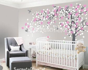 Nursery Wall Decal - Wall Decal Nursery - Blossom Tree Decal - Baby Tree Wall Decals - Wall Decals Nursery - Cherry Blossom Tree Decal