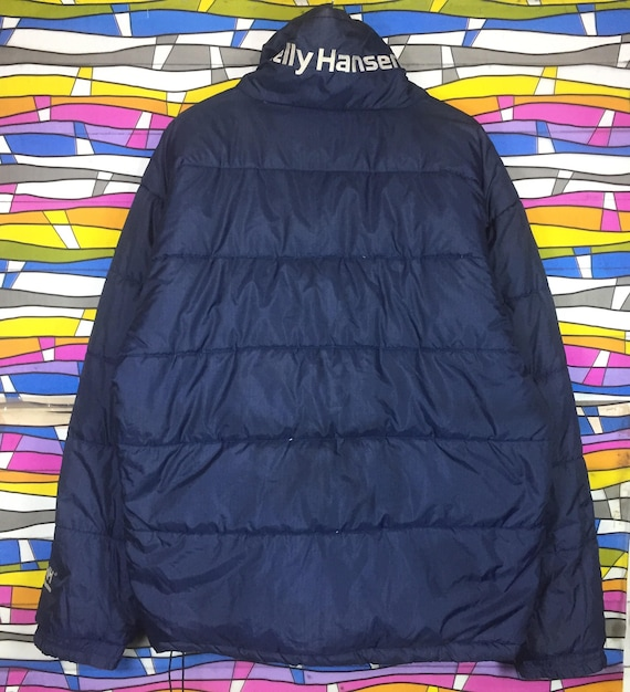 Pullover Puffer Sale Embroidered Big Revesible Hot Rare Logo Hansen jacket Helly Spellout qP5Ifwv