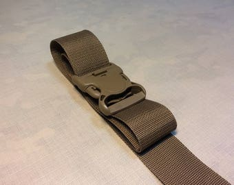 400cm х 5cm Sling 50mm Wide Strap + FASTEX BUCKLE 50 mm coyote brown