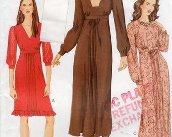 Vogue 7494 Dress Pattern, Sizes 14, 16, 18