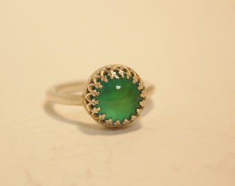 Sterling Silver Small Mood Stone Ring