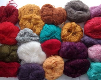 great set of wool mohair and other qualities - 22 balls - fancy